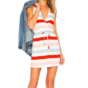 Lovers + Friends Striped Dreamland Faux Wrap Dress